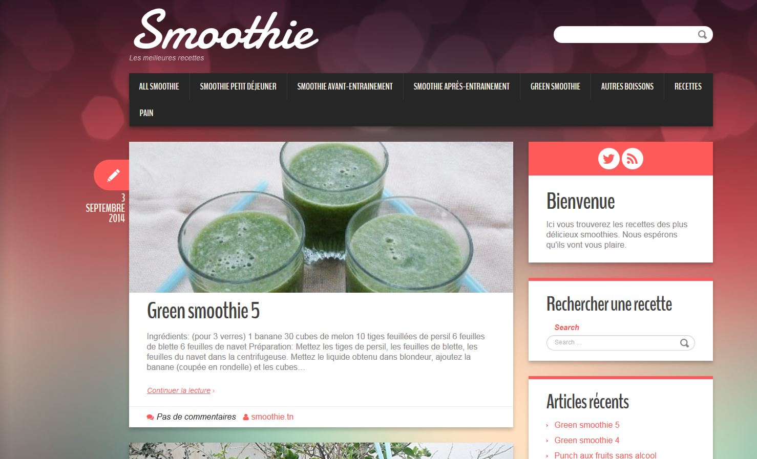 Détails : Smoothie TN