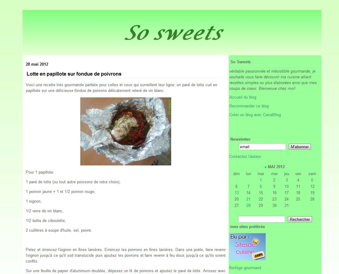 Détails : So sweets