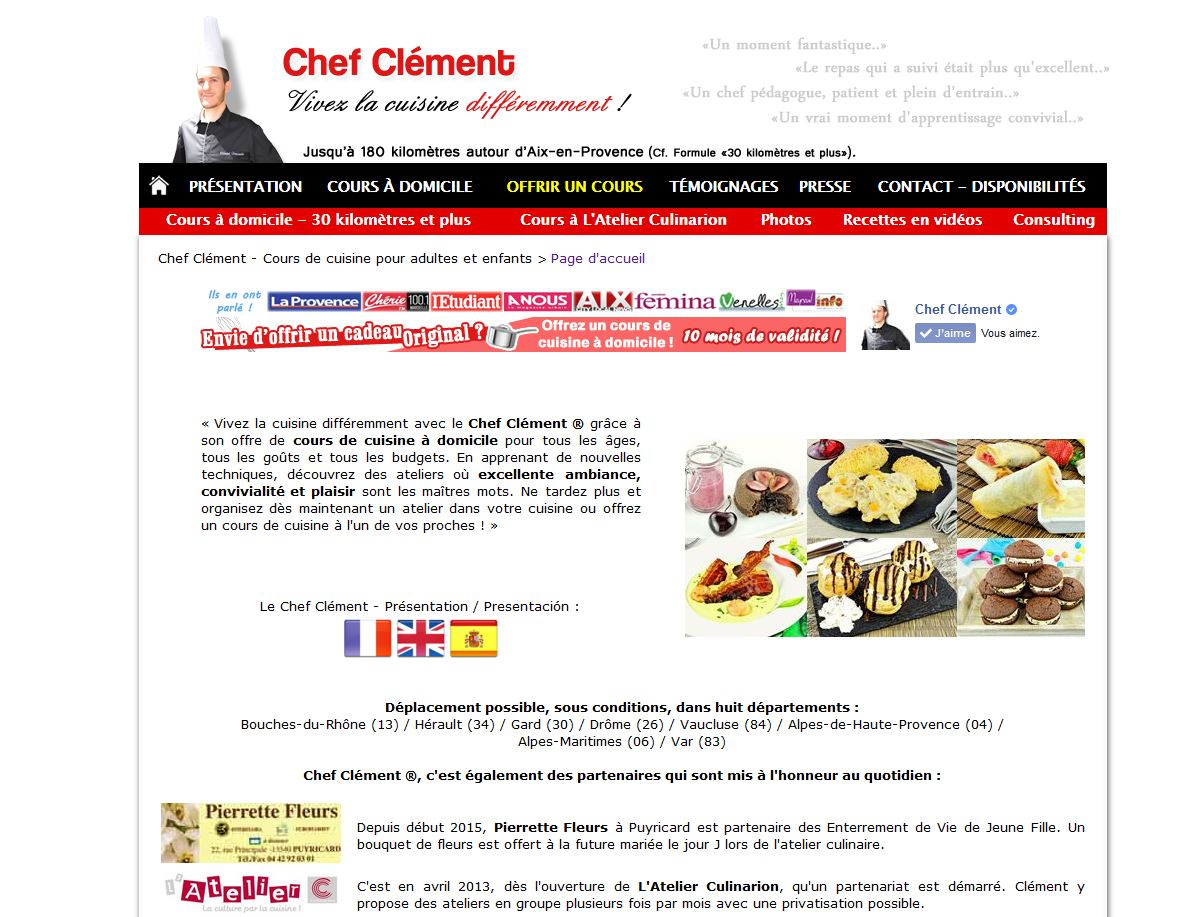 Cours de cuisine - Cours cuisine a domicile ...
