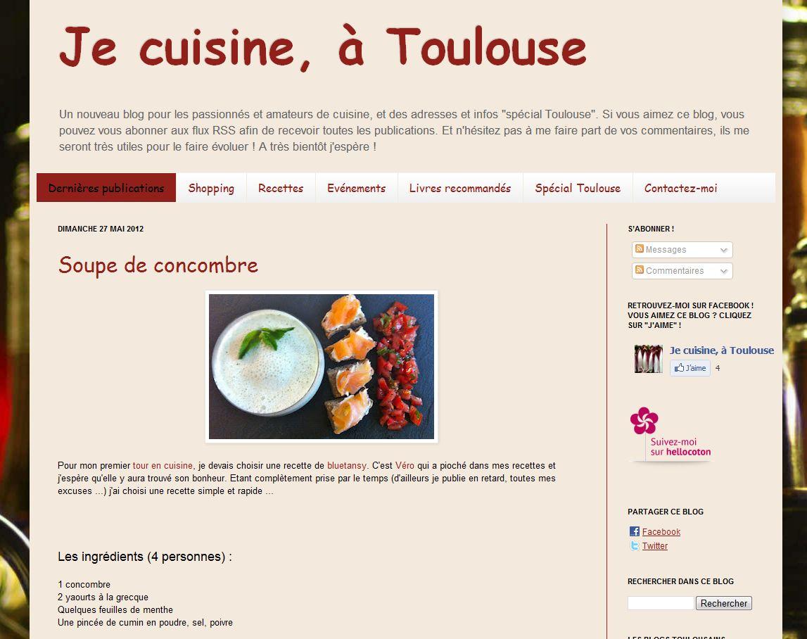 Je cuisine toulouse for Site de cuisine